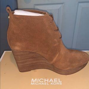 Michael kors wedge booties